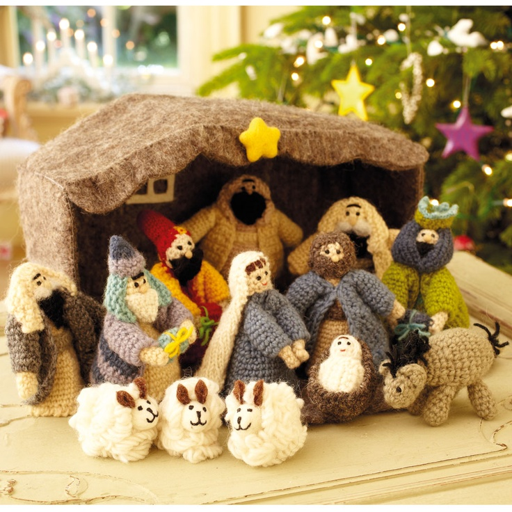 hand knitted nativity set Because - just because Pinterest