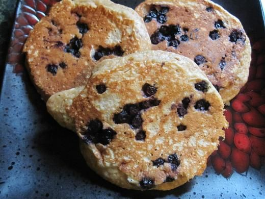 Blueberry Oatmeal Pancakes - The Kitchen Table - The Eat-Clean Diet ...