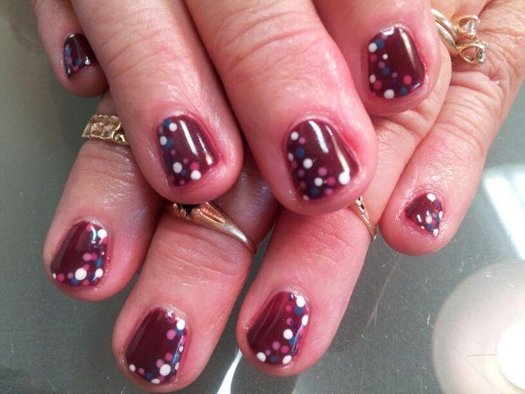 Fall shellac nails | Nails | Pinterest