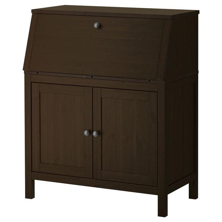 hemnes secretary black brown. Black Bedroom Furniture Sets. Home Design Ideas