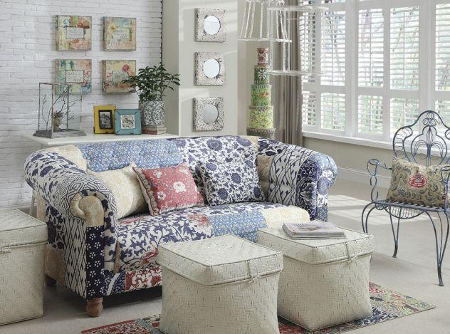 Fabric Sofa W Patchwork Floral Print Fun Sits Pinterest