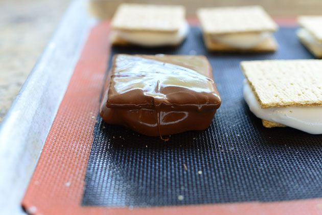 Chocolate Covered S'mores | Recipe