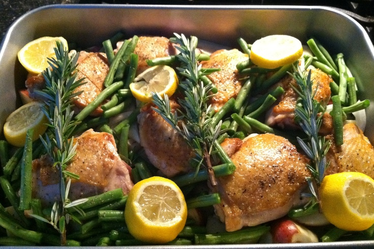 Lemon rosemary chicken and potatoes | HM Themed Dinner | Pinterest