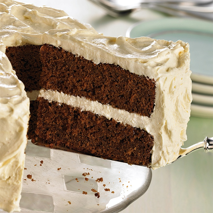 Gingerbread Cake with Creamy Gingerbread Frosting - holiday dessert