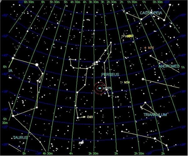 Perseus constellation | 26° Taurus | Pinterest