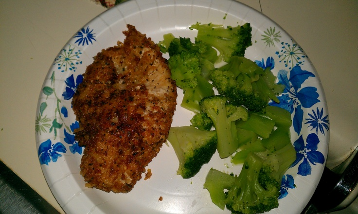 Parmigiano Panko Herb Encrusted Chicken Breasts-Remake- Very good and ...