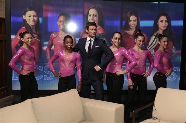 U.S Women's gymnasts meet Ryan Seacrest - Gymnastics Slideshows | NBC Olympics