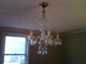 Crystal chandelier 495 marblehead ma