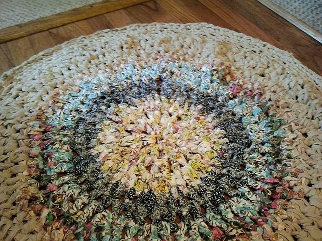 Crocheting Rag Rugs : crocheted rag rug Crochet Pinterest