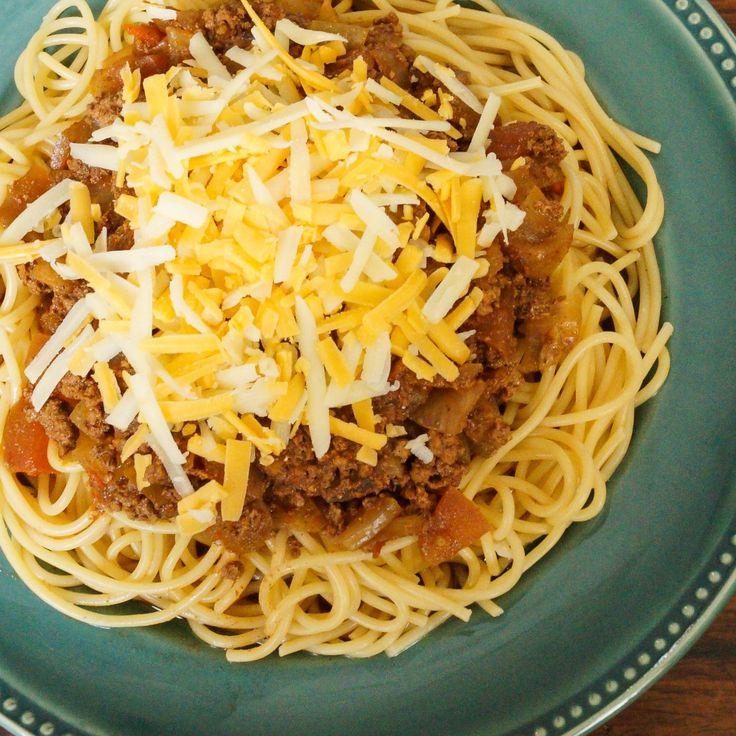 Cincinnati chili! It's always yummy with spaghetti