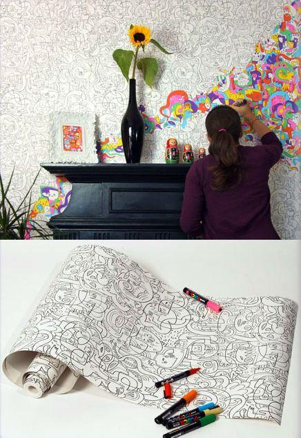 Um papel de parede para colorir. | publistagram.com