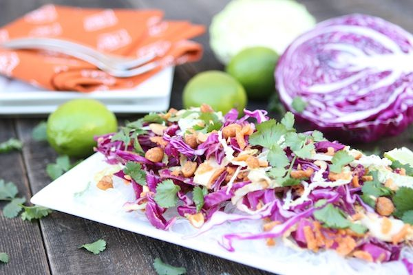 Cabbage and Carrot Salad with Peanut Sauce | BHG Delish Dish