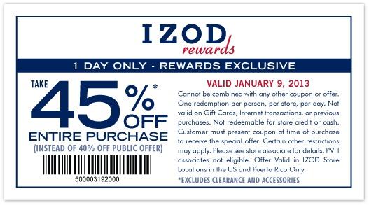 Izod coupon 2018
