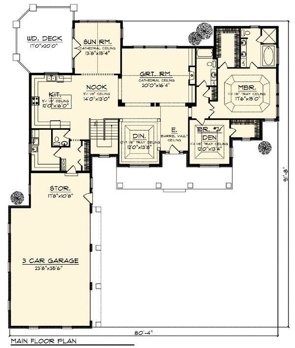 Country craftsman ranch house plan 73312 for Country craftsman home plans