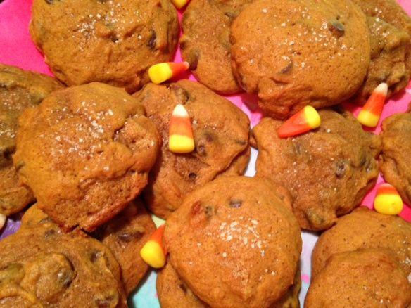 Salted Dark Chocolate Pumpkin Cookies | Yummy!!! | Pinterest