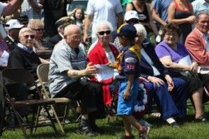 boy scout memorial day flag ceremony