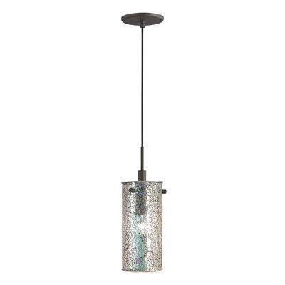 Woodbridge Lighting 13423 1 Light Mini Pendant With Mosaic Glass Shade