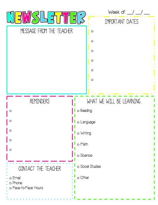 kindergarten newsletter template - solarfm