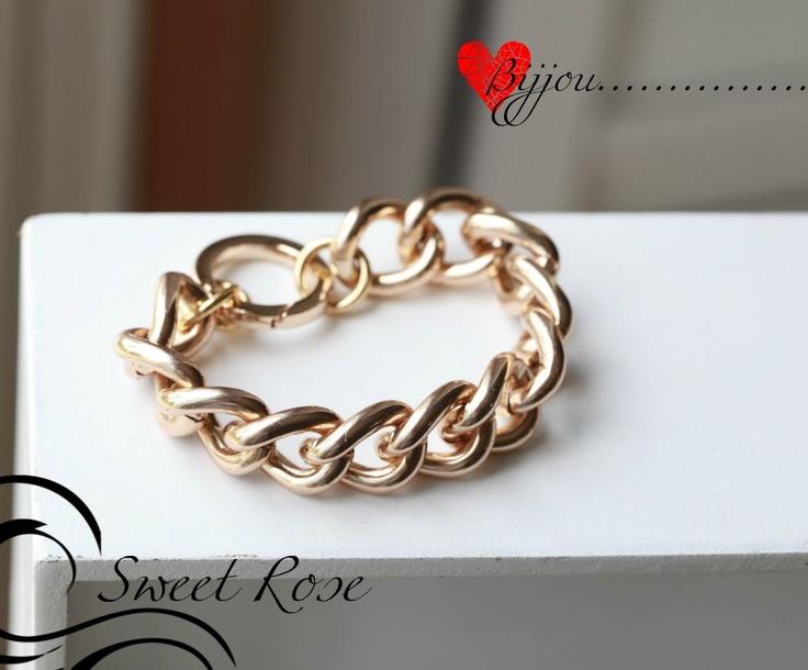 Michael Kors inspired ROSE GOLD Chain Bracelet -Chunky Large Chain Link Bracelet - Chain bracelet. $17.00, via Etsy.