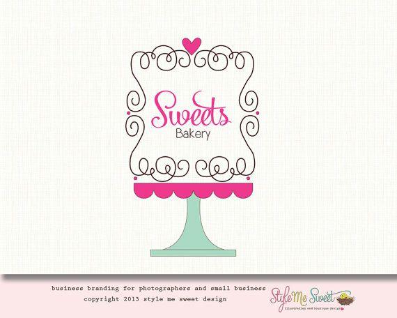 Cake Decorating Logo : Bakery Logo Design Cake Logo Design Premade Logo OOAK Hand ...