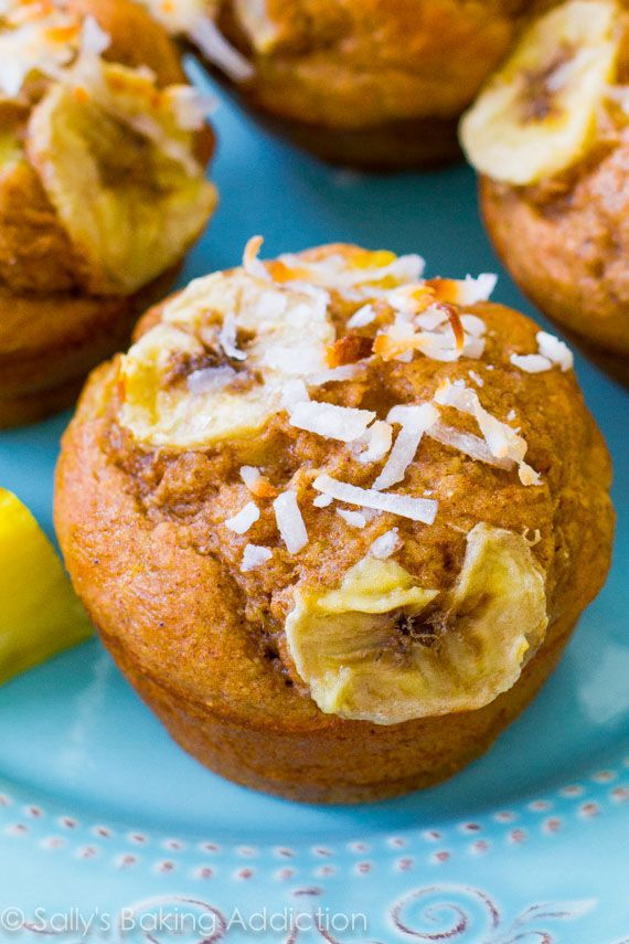 ... whole wheat flour, and coconut. Easy, moist, low-fat, healthy muffins