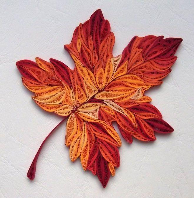 Вязание узор осенние листья