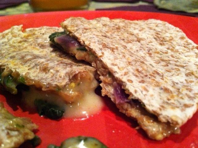 Spinach and Mushroom Quesadillas | Nom Eat Nom