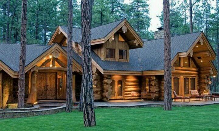 Beautiful Log Home Dream Home Pinterest