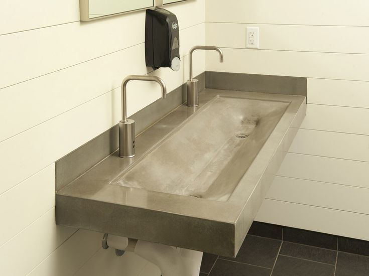 Concrete Trough Sink : concrete trough sink powder your nose Pinterest