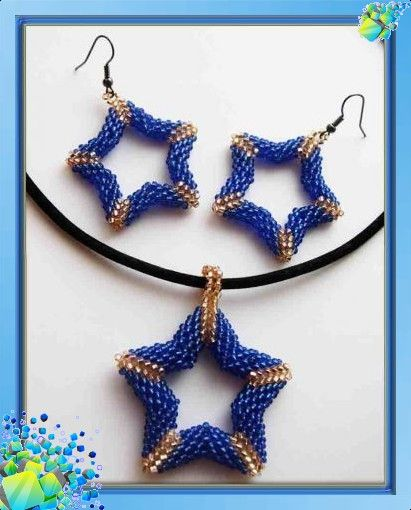 Плетение бисером звезды