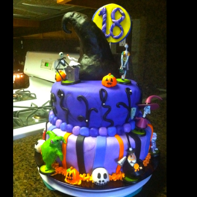 Nightmare before Christmas 18th bday cake I made.. Tinkerbllfery@yahoo ...
