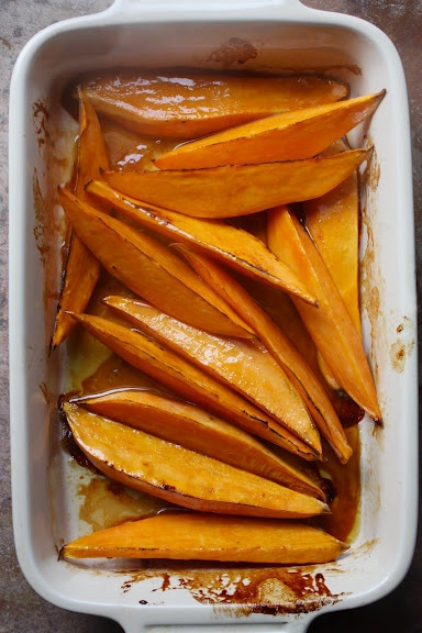 Apple Cider-Beer Glazed Sweet Potatoes   Sustenance   Pinterest