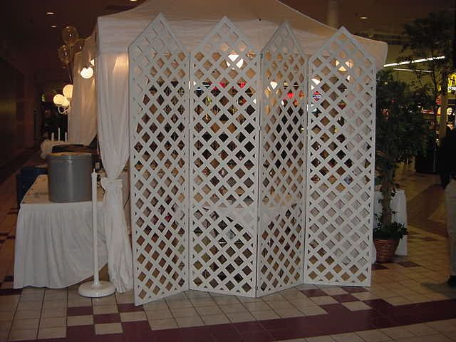 "Lattice Backdrop | Craft Booth Displays ""WOW"" 