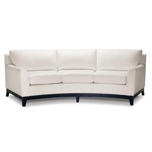 Elite Leather Curved Sofa In Chalk White For The Home