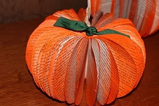 Pumpkin made from book.