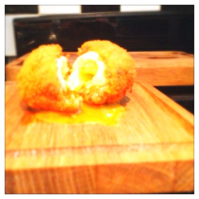 Homemade chorizo scotch egg! Bam! | Food | Pinterest
