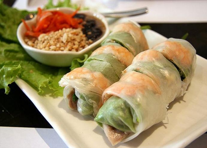 vietnamese style summer rolls with peanut sauce basil summer rolls ...