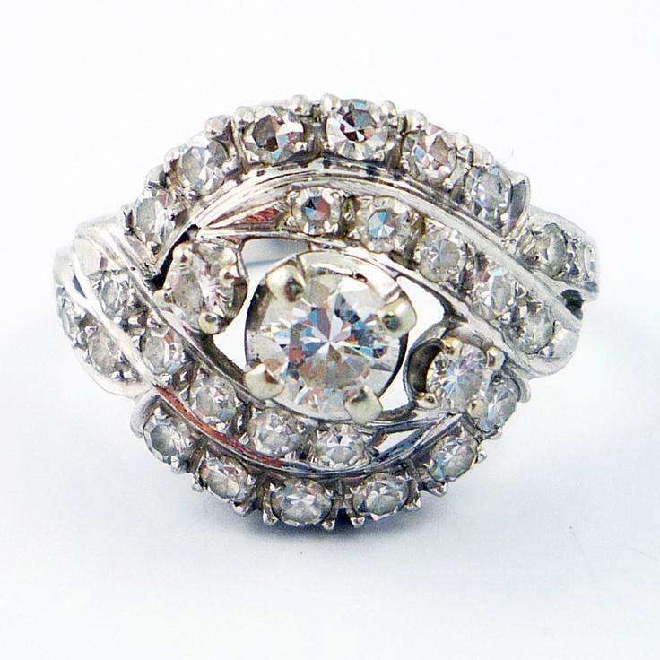 Diamond cocktail ring vintage