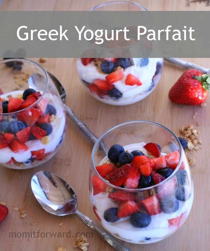 Greek Yogurt Parfait | YUMMM!!!! | Pinterest
