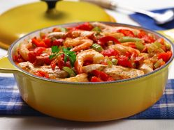 Quick jambalaya - Cleaned up versions wouldn't have any sausage and ...
