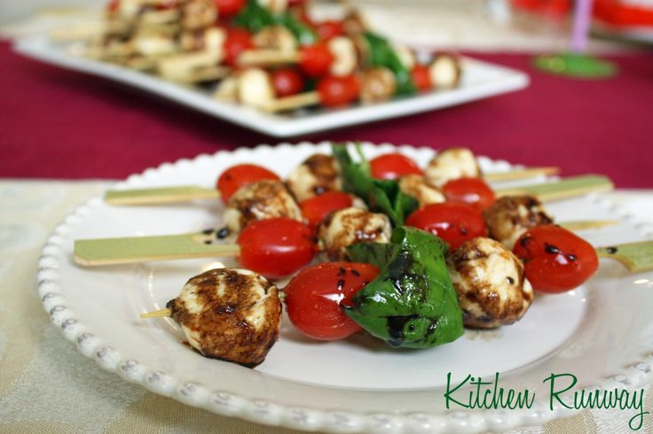 Caprese Salad Skewers | Recipes to Try | Pinterest