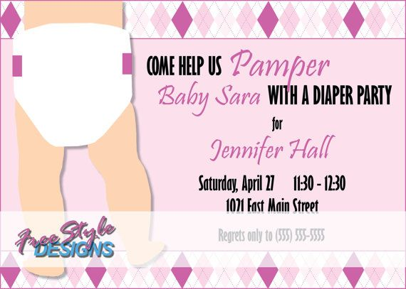 Diaper Party Invitations Cake Ideas And Designs