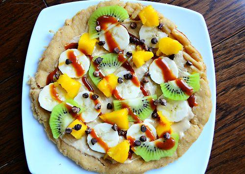 ... mango, kiwi, banana, chocolate chips, and dulce de leche. Try it on