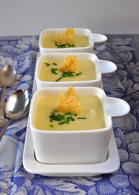 Silky Cauliflower Soup with Parmesan Crisps