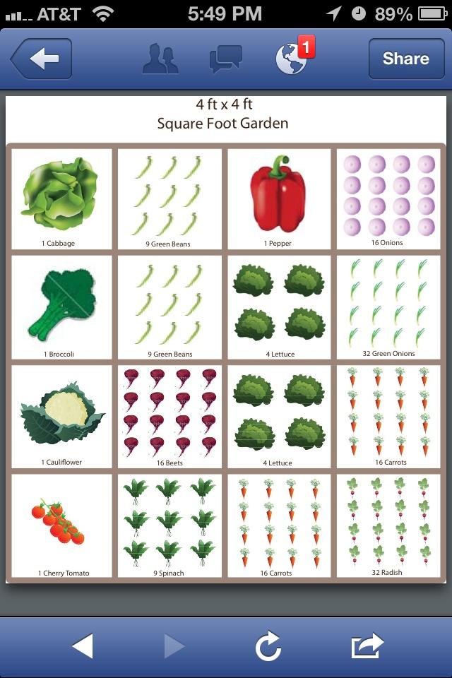 Square Foot Gardening Template Dream House Pinterest