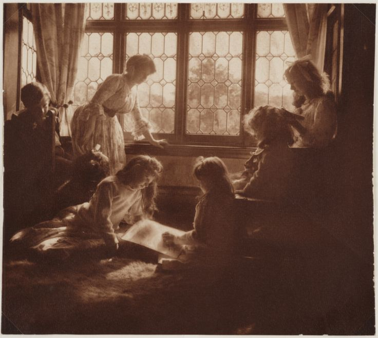 'An Indoor Group' taken by Emma Barton in 1908