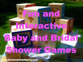 fun and interactive baby and bridal shower games