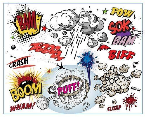 Globos para di�logos tipo comic para imprimir gratis.