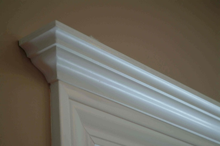 Crown molding header for window for the home pinterest for Window header