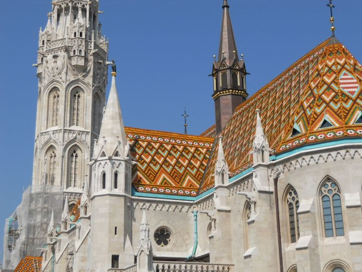 Budapest Cathedral Roof Church Architecture Pinterest